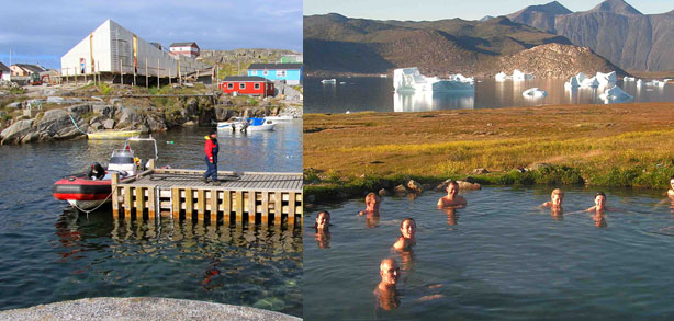 viatges a Groenlàndia, Qaqortoq i Uunartoq icebergs