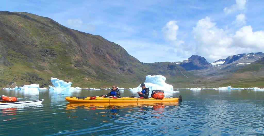 viatges a Groenlàndia, extensions d'Islandia caiac i trèkking 5 dies