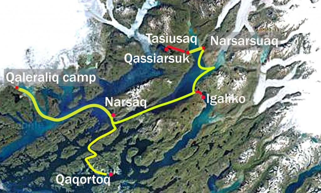 viatges a Groenlàndia, exclusive adventure mapa