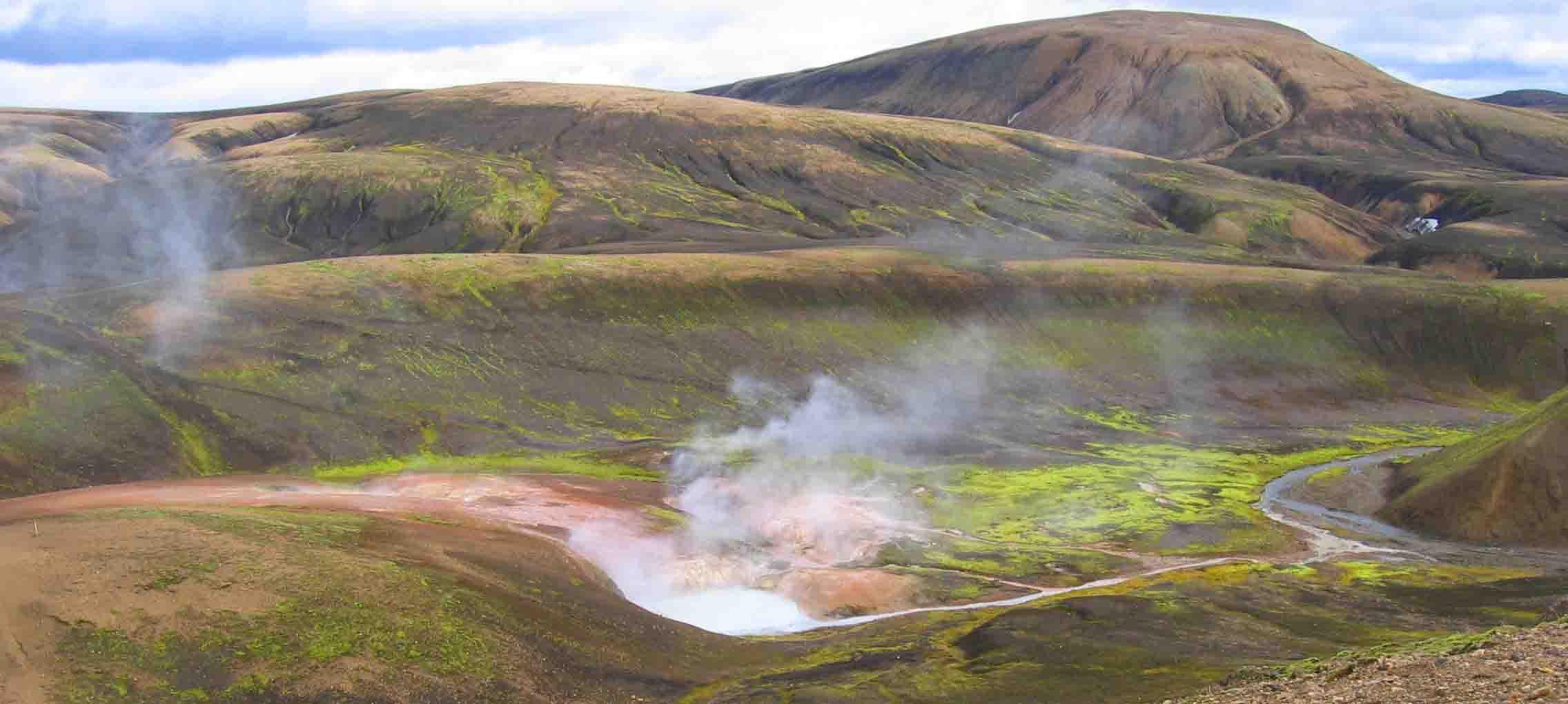 Hveragerði, riu d'aigua calenta