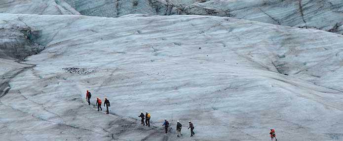 llengua glacial trekking